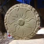 Sonnenrad Baumberger Sandstein ca. 35x4cm Handarbeit 115,00€