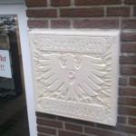 Wandtafel am Fanshop des Preußen Münster
