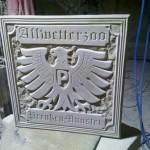 Preussen Münster Wandtafel für den Allwetterzoo in Münster