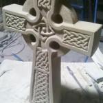 """Skulptur """"Keltisches Kreuz"""" Baumberger Sandstein ca.45 x 28 x 6cm 225,00€ Handarbeit"""