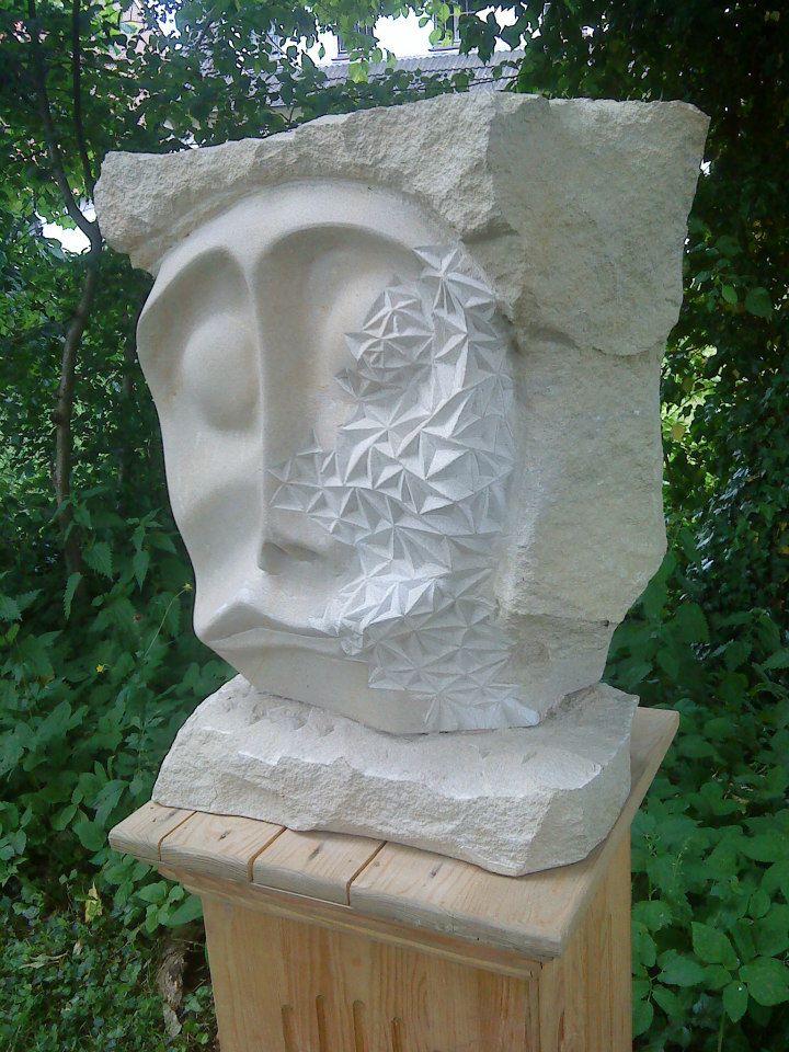 """Skulptur """"Thought"""" Baumberger Sandstein 495,00 €"""