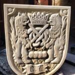 Wappen, Bäckerzunft, Baumberger Sandstein, Handarbeit