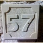 Hausnummer Baumberger Sandstein