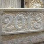 Jahreszahl Ibbenbürener Sandstein Handarbeit Preis auf Anfrage