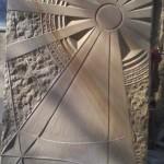 Sandsteinsonnenrelief Baumberger Sandstein 75 x 50 cm